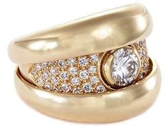 Mellerio Clic Clac Diamond 18k Yellow Gold Ring