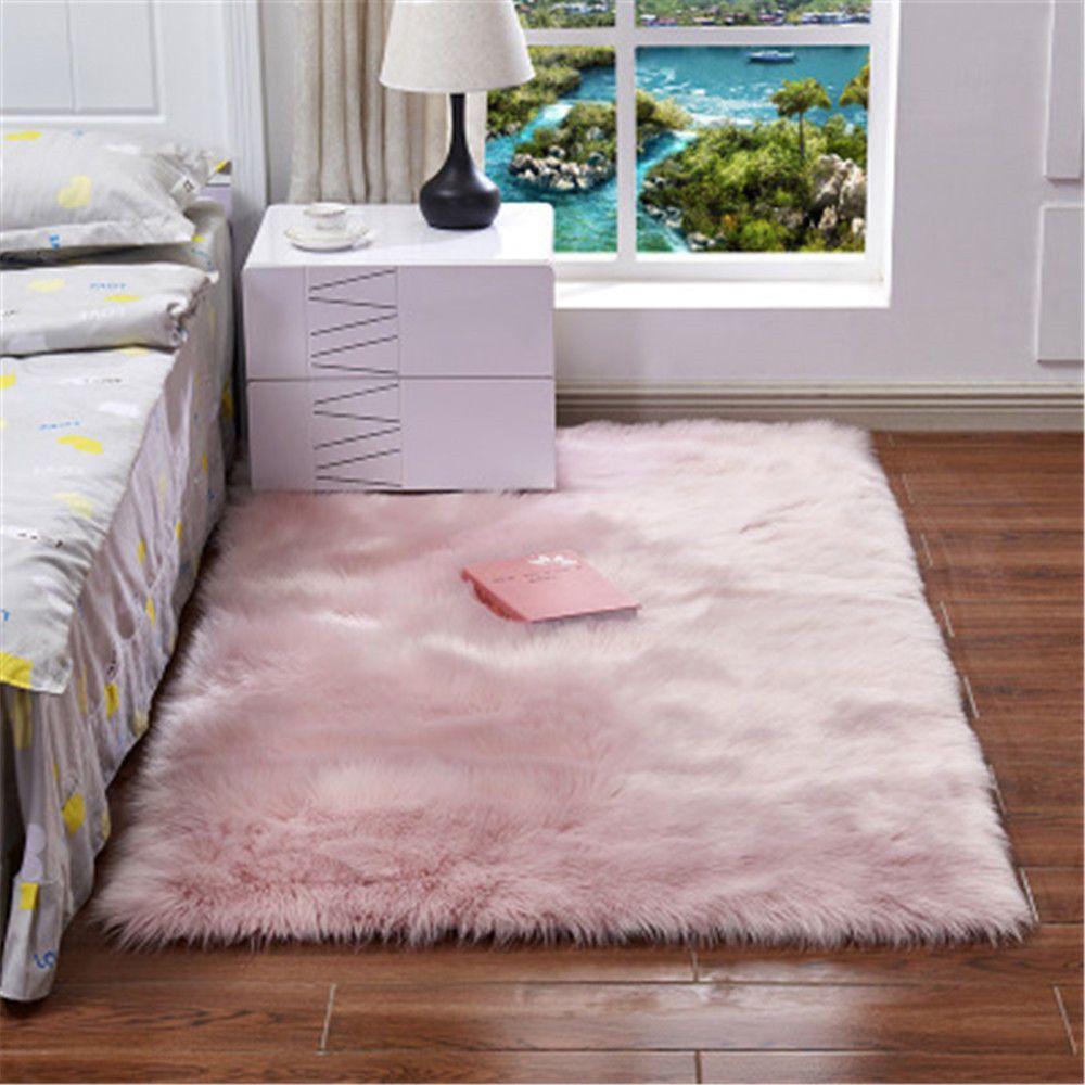 Faux Fur Sheepskin Fluffy Soft Rug Home Carpet Faux Rugs Mat Seat Pad Area Rugs Room Carpet Living Room Carpet Bedroom Rug