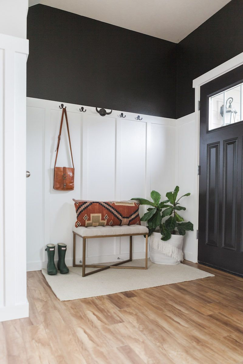 Entry hallway storage ideas  Step Inside a Hip Washington Home With Major Style  Color  White