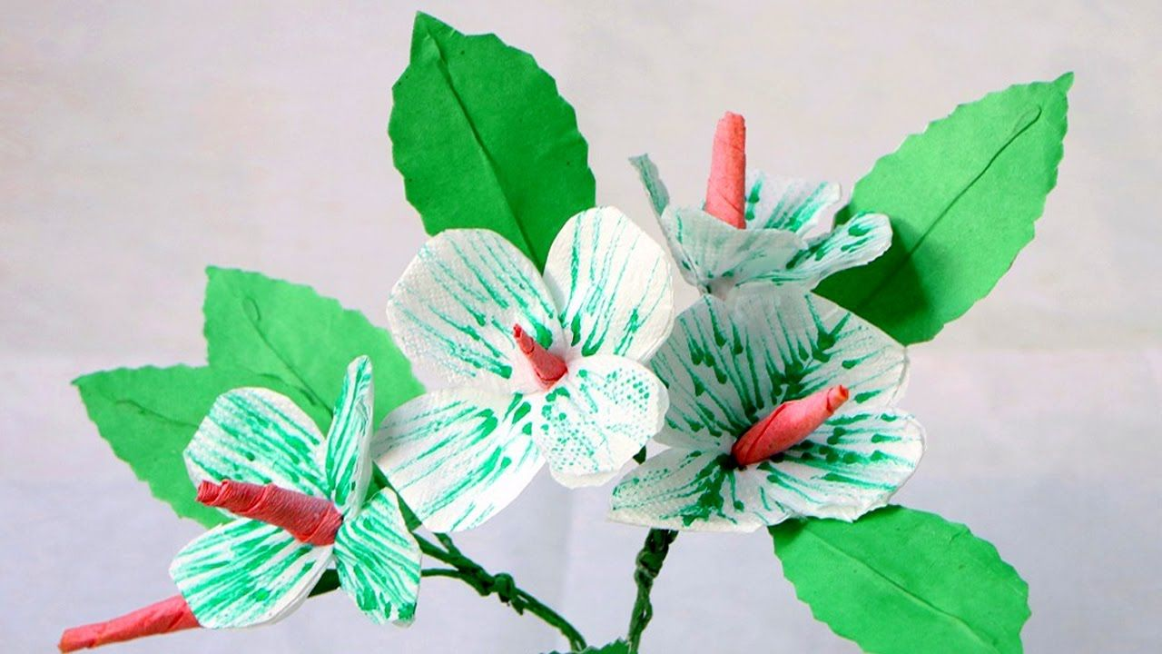 How To Make A Beautiful Tissue Paper Flower Diy Flower Making