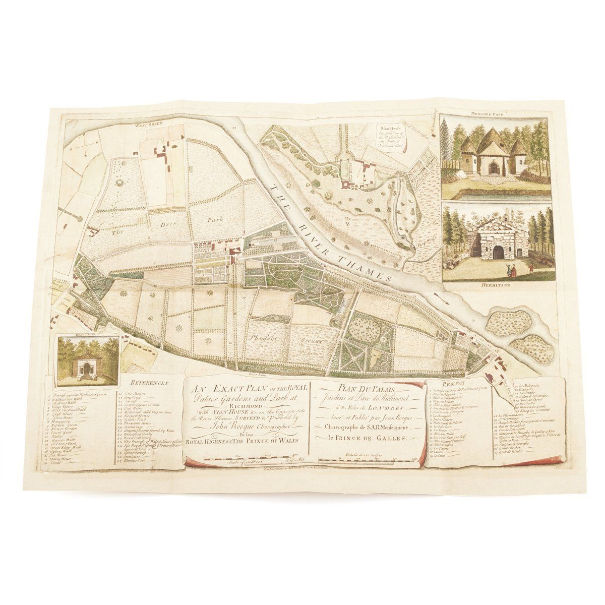 Map of the Royal Palace Gardens and Park at Richmond, 1754||EVAEX : All