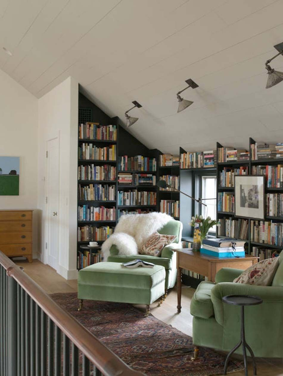 Thenoblehome Via Houzz Cozy Home Library Home Libraries Home Library