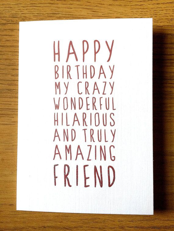 Sensational Sweet Description Happy Birthday Friend Card Card For Friend Funny Birthday Cards Online Alyptdamsfinfo