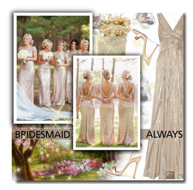 """Always a Bridesmaid"" by matildiwinky ❤ liked on Polyvore featuring Oscar de la Renta"