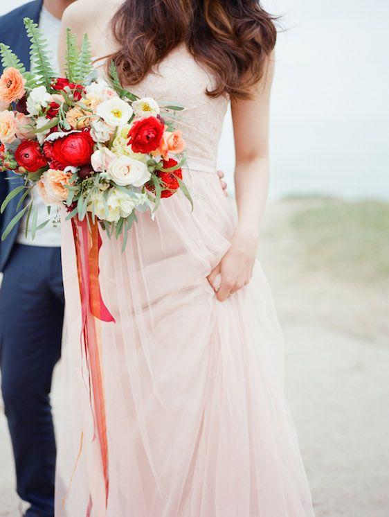 Blush And Poppy Wedding Inspiration Poppy Red Wedding Summer