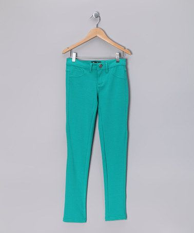 Take a look at this Cyan Jeggings by Miss Fit Denim on #zulily today!