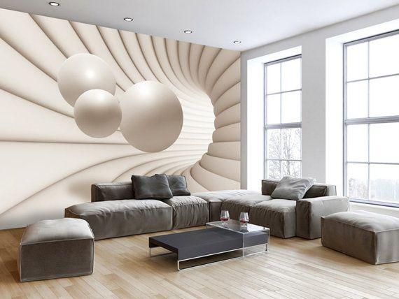 Photo Wallpaper Wall Murals Non Woven 3d Modern By Glitterblast Wallpaper Living Room Decor 3d Wallpaper Mural