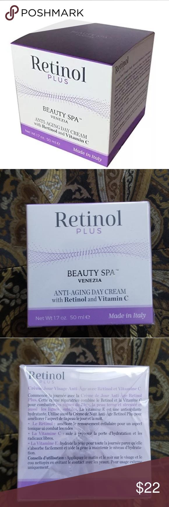 Retinol Anti Aging Day Cream W Retinol And Vit C Retinol Beauty Spa Anti Aging