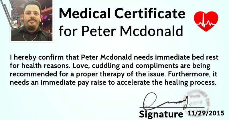 What does your medical certificate look like? ME Pinterest - medical certificate for school