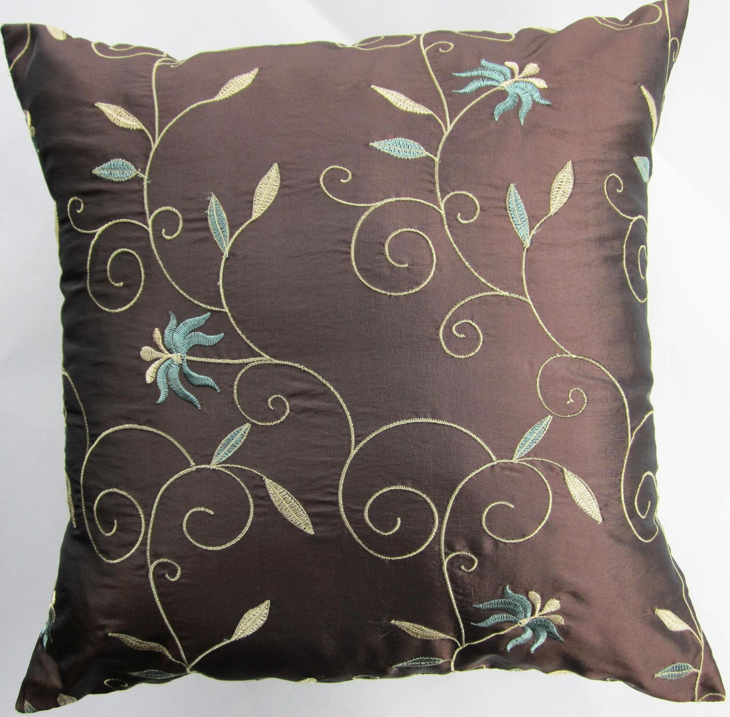 pillow wells salient teal velvet mind throw pillows original fanciful letter gracious blue namaste ah bed colored with as bright plus nod kess