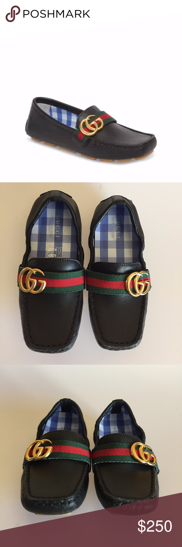 c8d0746363 GUCCI Noel Driving Loafer Black Leather (Toddler)   In excellent  conditions