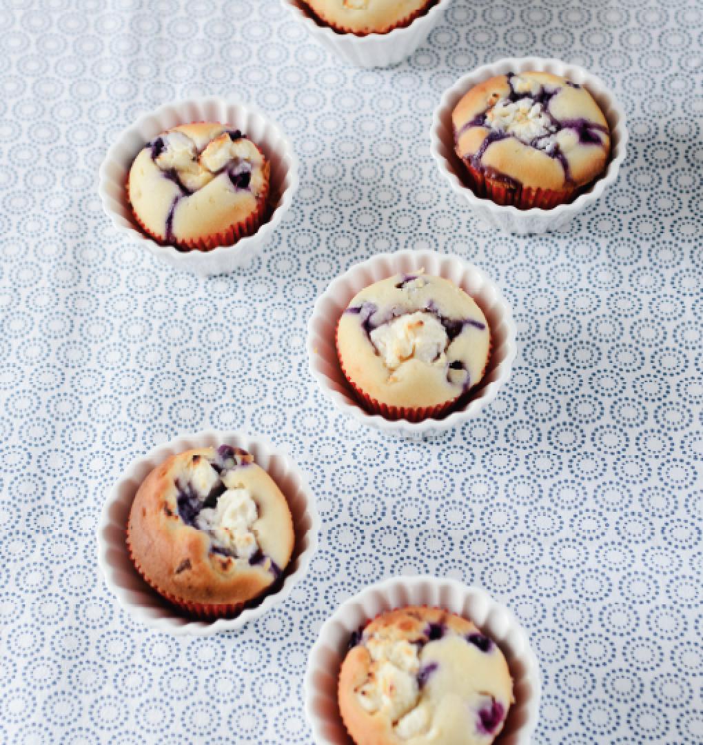 cupcakes op met blauwe bessen