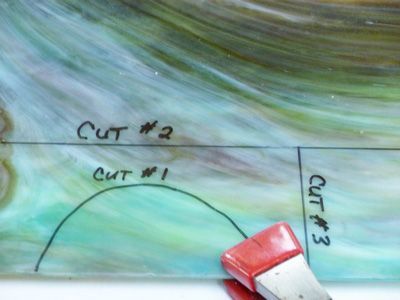 Making difficult cuts tutorials vitrail verre couper du verre - Comment couper du verre en rond ...