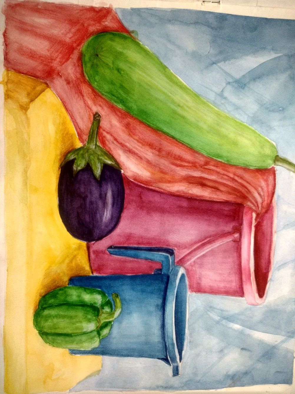 Water Colour Still Life For Beginners Seascape Watercolor
