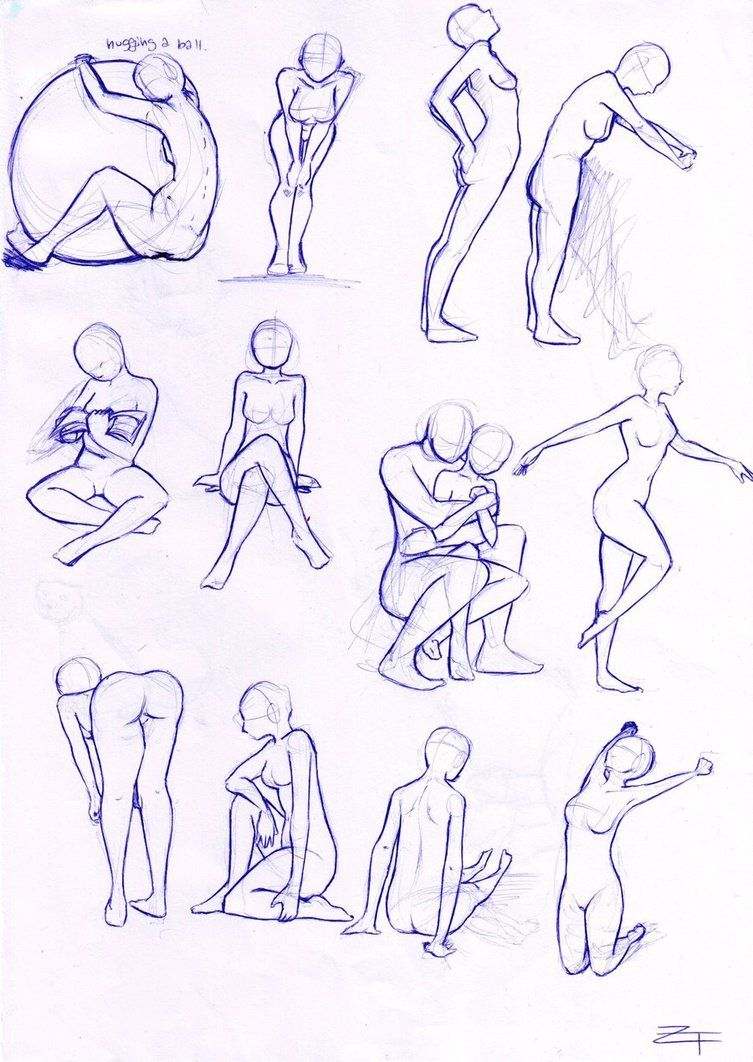 Line Drawing Woman Body : Anime action poses http apartament luksusowe