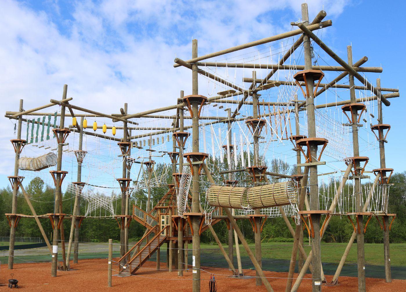 High Trek Adventures Ropes Course Zipline For Ages 4 104 Ziplining Ropes Course Adventure Park