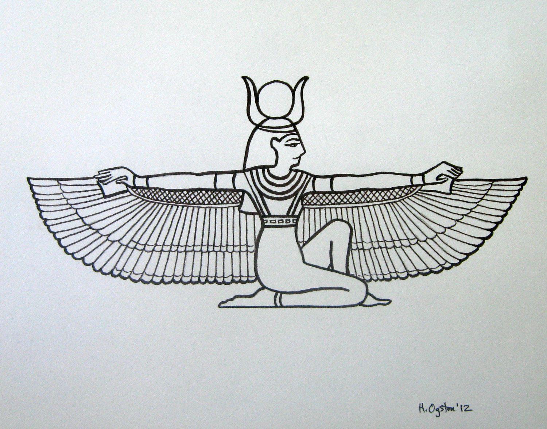Pix For gt Egyptian Goddess Drawing Symbols Pinterest