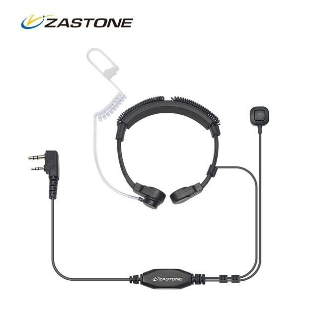 Tactical Throat Mic Air Acoustic Tube Earpiece Headsets for Walkie Talkie RADIO
