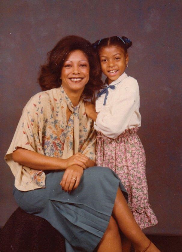 a young Taraji P. Henson and her mother, Bernice Gordon ...