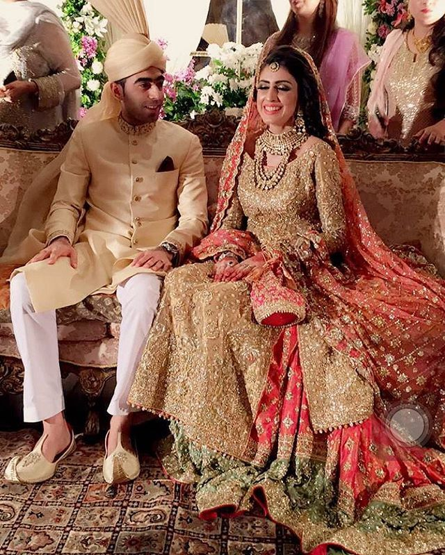 Bushra and haroon wedding dress