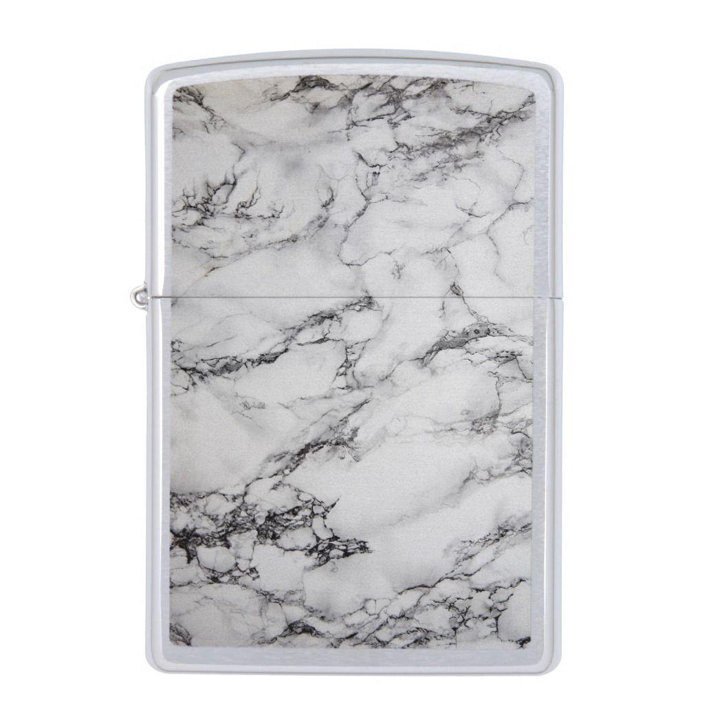 White Black And Gray Marble Stone Zippo Lighter Zazzle Com Zippo Lighter Grey Marble Zippo