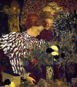 Cool Le Striped Blouse Edouard Vuillard