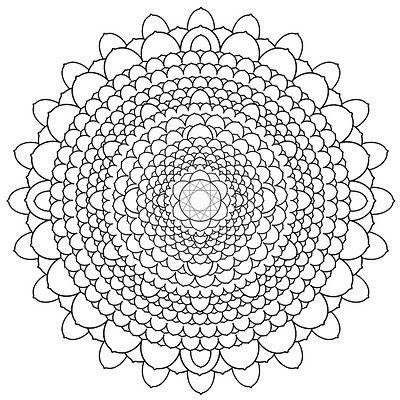 1000 Petal Lotus 2013 Mandala Coloring Pages Mandala Coloring