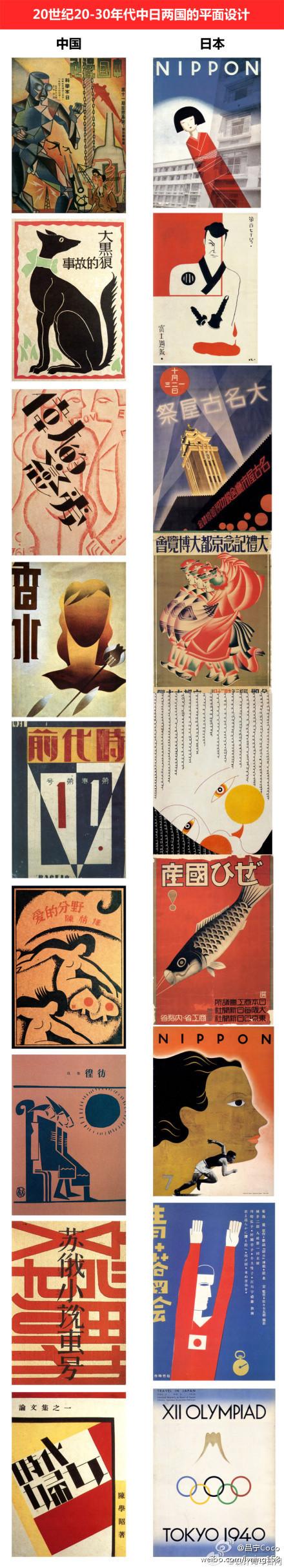 MORE_墨的微博   20世纪20-30年代中日海报对比