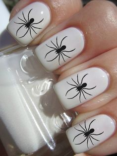 Spider nails design google search halloween makeupnail art spider nails design google search prinsesfo Image collections