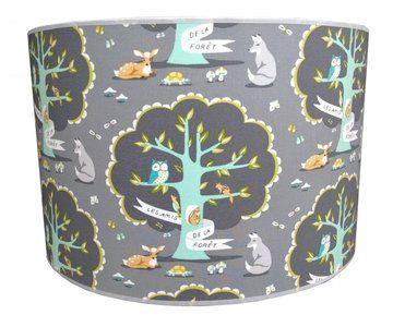 kinderlamp bos & vriendjes kinderkamer lamp met alle bosdieren, Deco ideeën