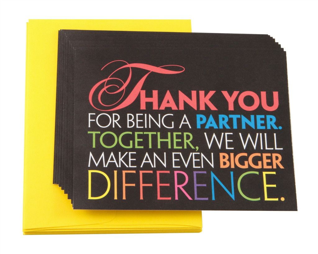Partner Thank You Note Cards | Thank you note cards, Notecard set, Note  cards
