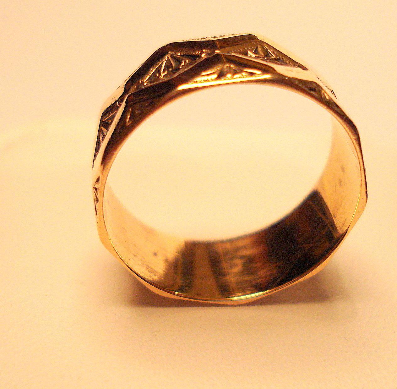 New Civil Wedding Rings With Pre Civil War Circa 1850 18 Karat