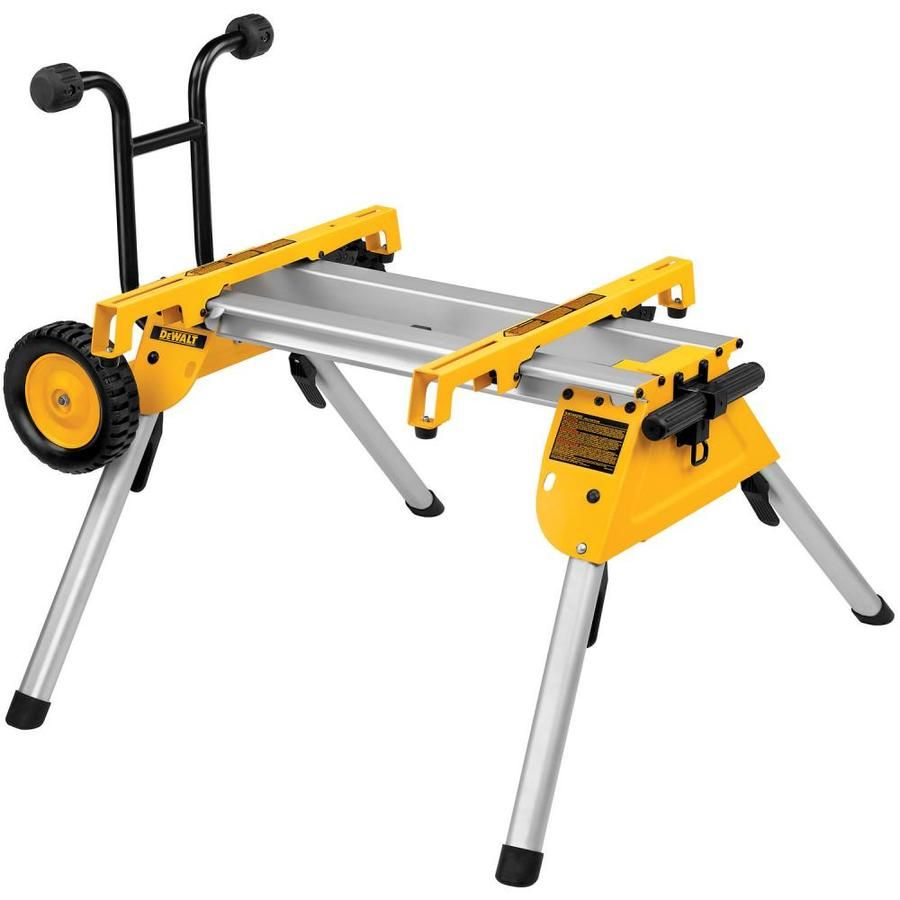 Dewalt aluminum rolling table saw stand at