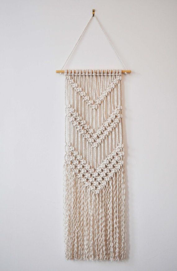 Macrame Wall Hanging Vee By Shopbrintage On Etsy Macrame