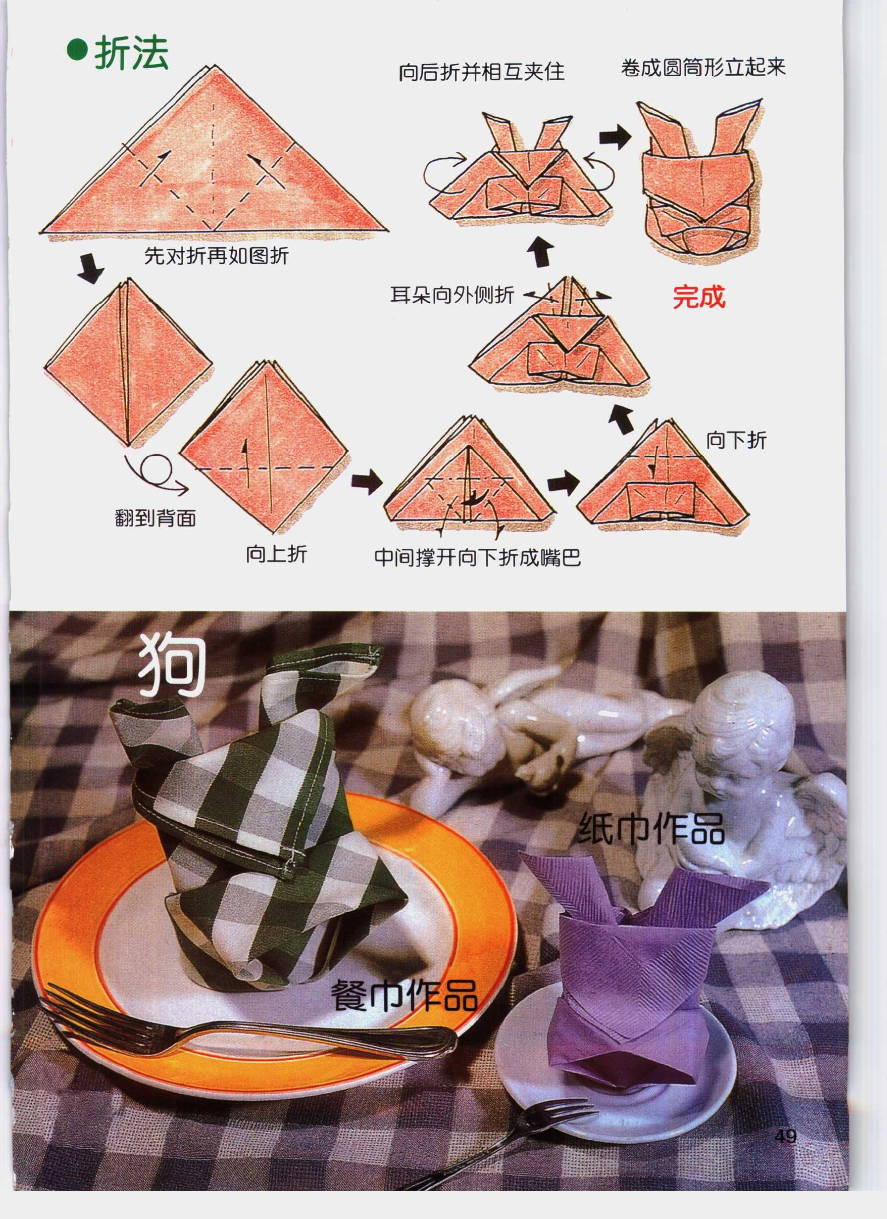 Fold a Fancy Napkin DIY: Fold Napkins - Dog | napkin ... - photo#35