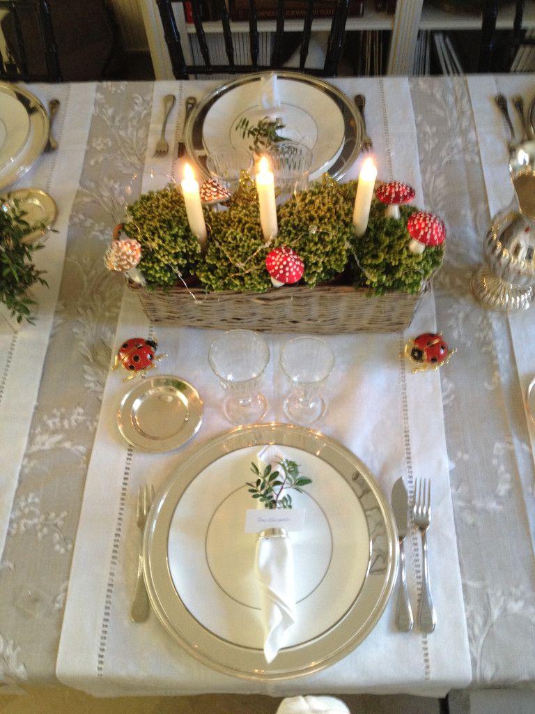 bonita decoracin de la mesa de navidad