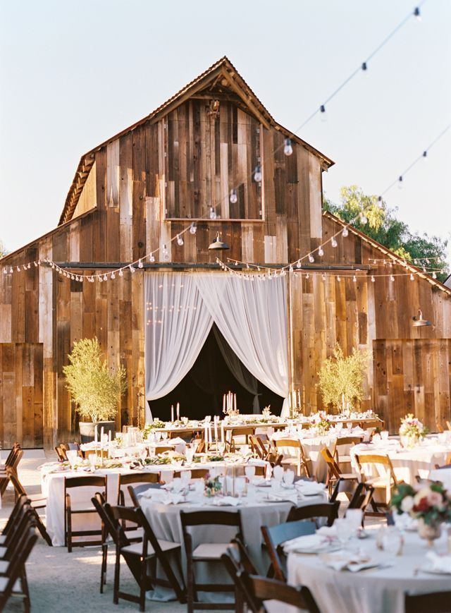 michelle warren; california; greengate; Lovelyfest Event Design; outdoor reception; string lights; barn reception;