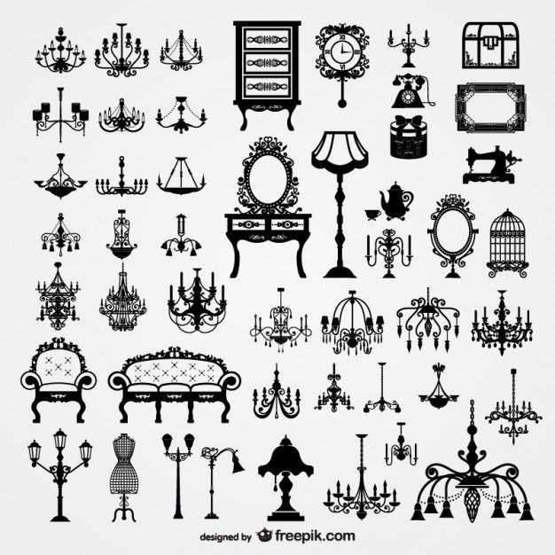 Hogar Europeo Material De Vectores Proyectos De Dibujo Vectores