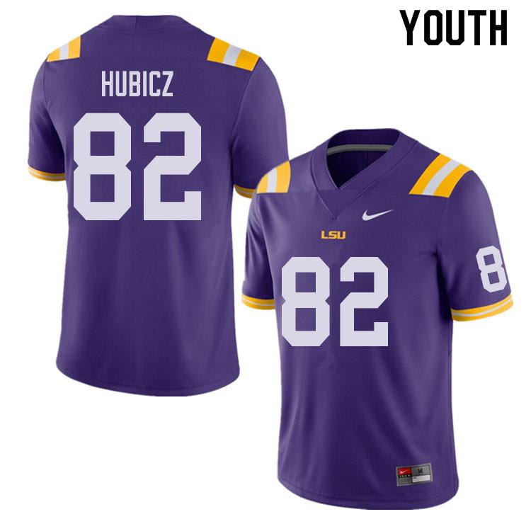Youth 82 Brandon Hubicz Lsu Tigers College Football Jerseys Sale Purple Lsu College Football Football Jerseys