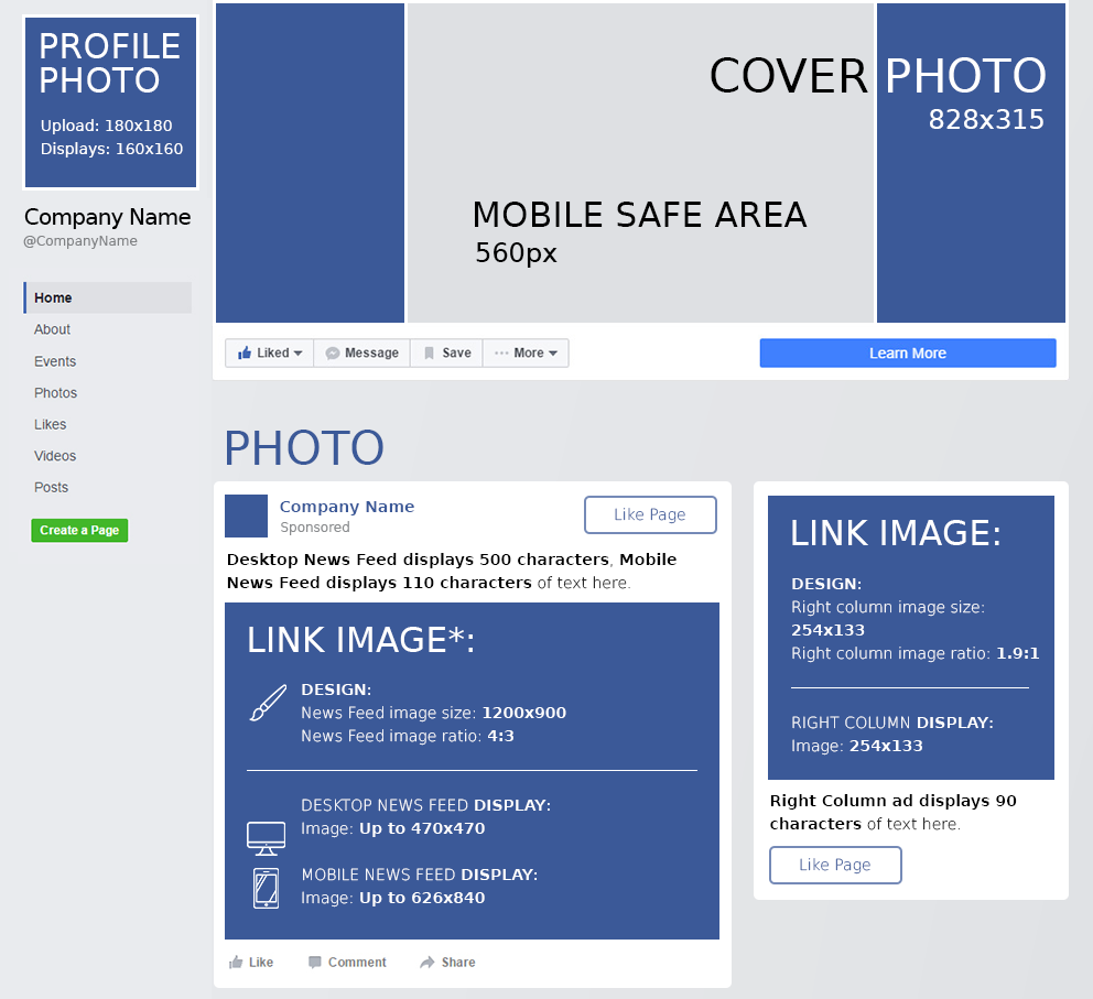 Facebook Cheat Sheet: All Image Sizes, Dimensions, And