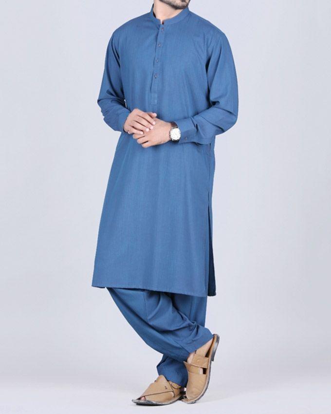 b2fe33ee14 Buy Junaid Jamshed Blue Polyester & Viscose Kameez Shalwar for Men -  JJKS-A-30118 Online at Best Price in Pakistan | daraz.pk