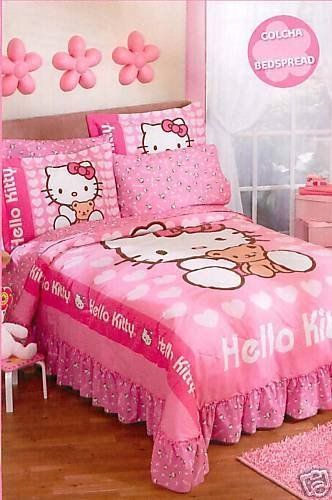 Sanrio Hello Kitty Love Bedspread Bedding Set Full Sanrio ベッド