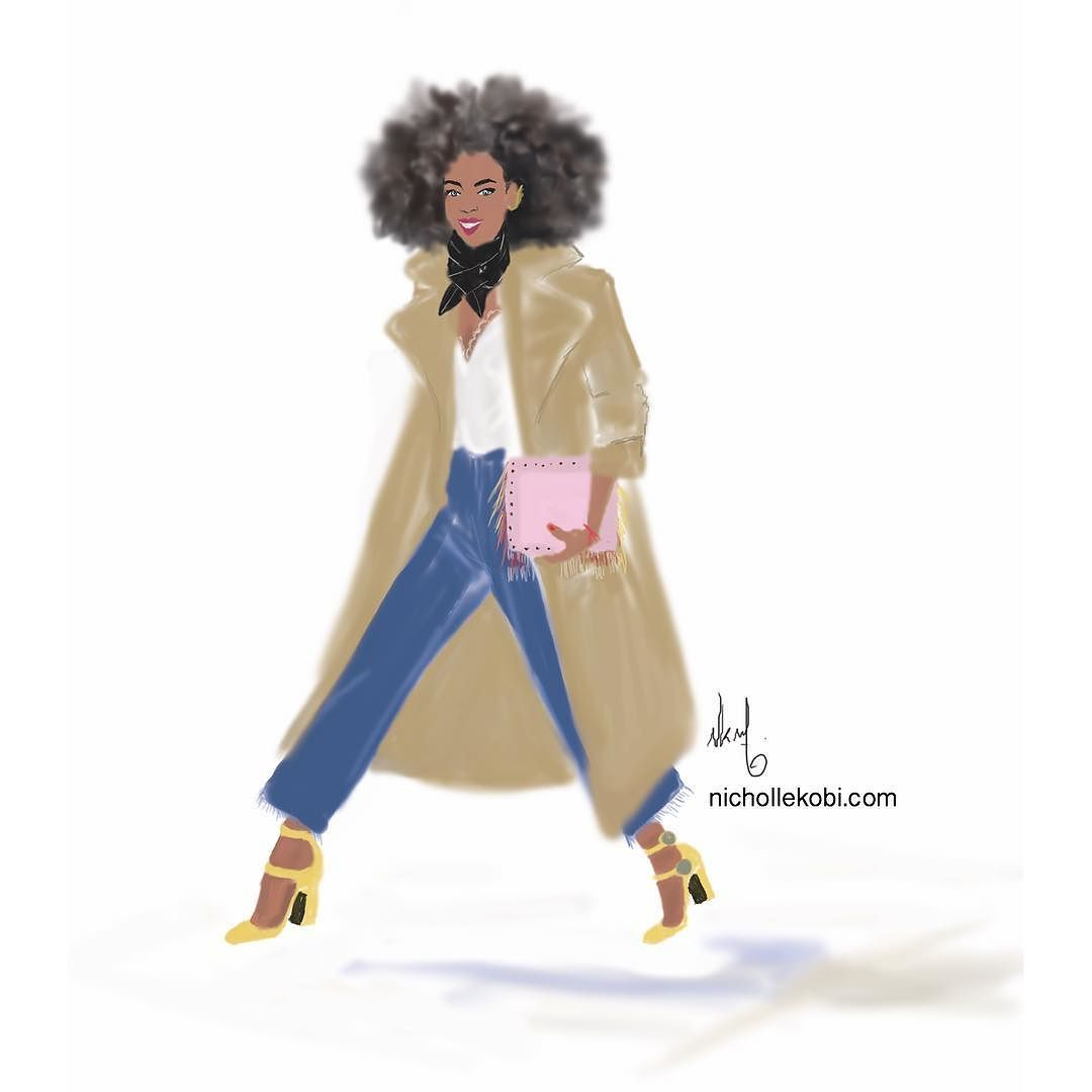 On the way nichollekobi illustration blackart by nichollekobi