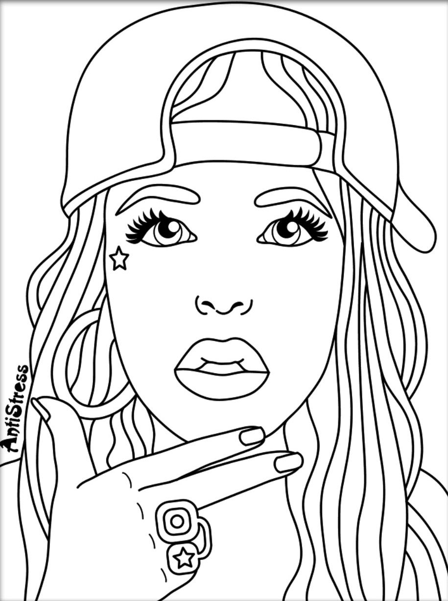 Coloring Page Maya Angelou. Adult Coloring Pages  Sheets Colouring Fantasy Women Silhouette Cameo Cocoa Hello Kitty Cricut Silhouettes Pin by Val Wilson on pages Pinterest coloring
