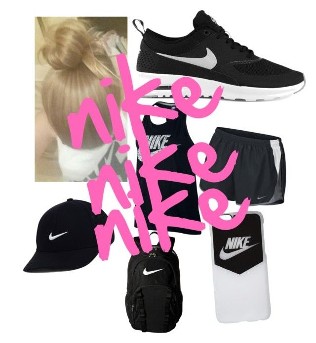 """""""nike😆"""" by bluejay04 ❤ liked on Polyvore featuring NIKE"""