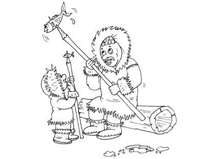 Kleurplaten thema Eskimo\'s voor kleuters / Polar theme preschool ...