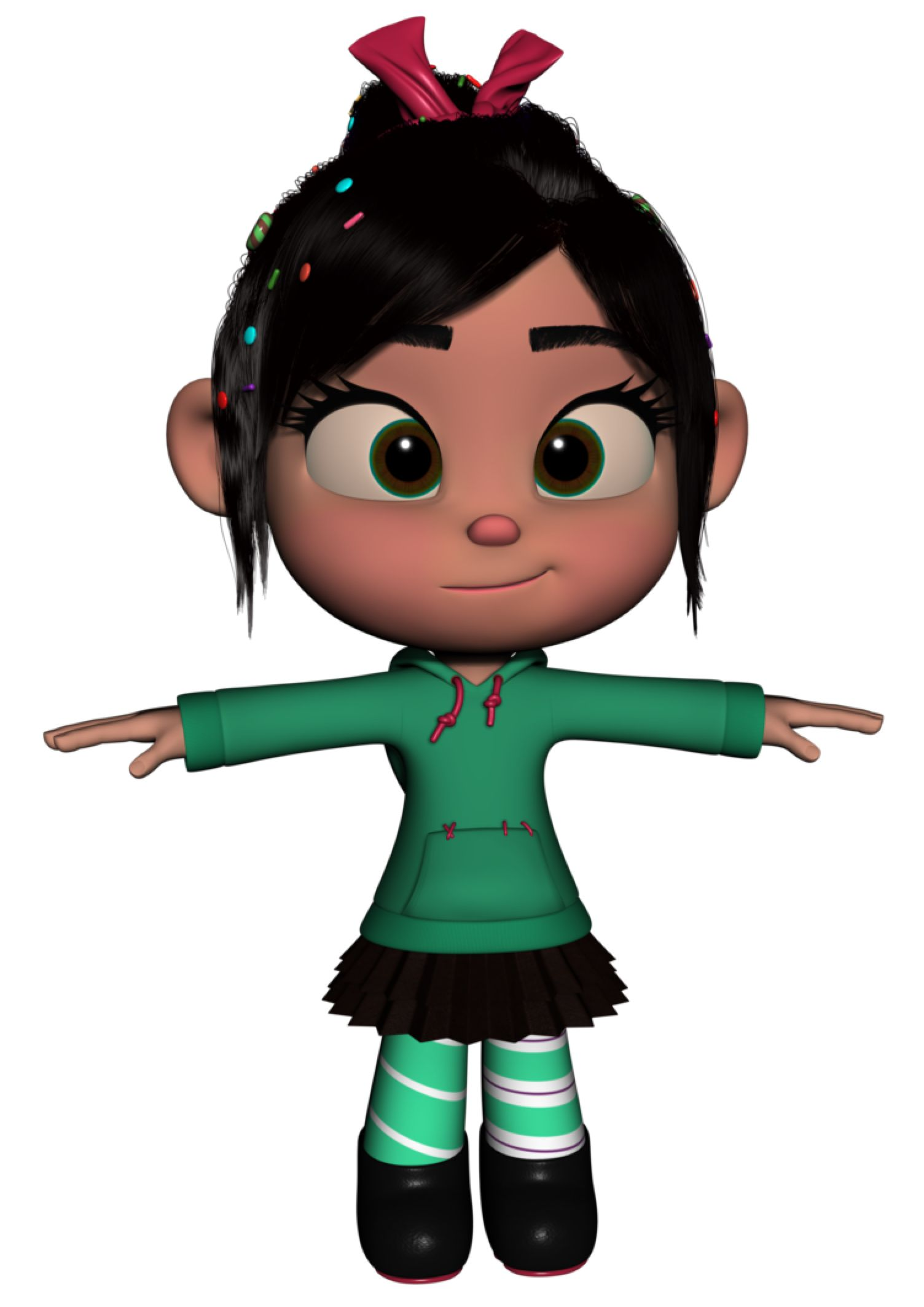 Vanellope 3d Render Wip By Skyriderr On Deviantart With Images
