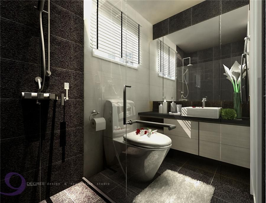 Punggol 5 room hdb design at 30k hdb home decor ideas for Toilet room decor