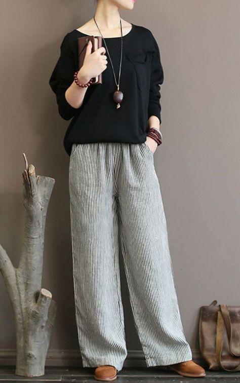 45 sugestões de roupas de linho para mulheres acima de 50 anos