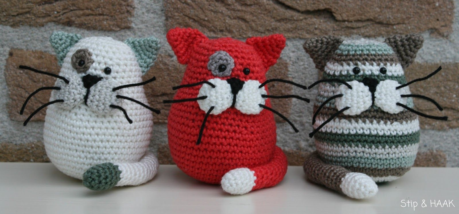 niedliche Katzen http://stipenhaak.blogspot.nl/p/gratis-patronen_28 ...